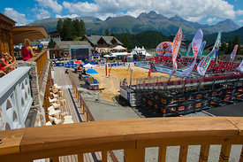 Beach Volley Ball at the Kulm County Club in St.Moritz