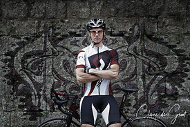 Tough cycling sports portrait