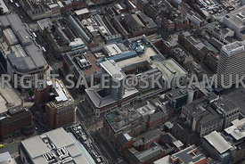 Leeds aerial photograph of the area of The Core Shopping centre The Headrow