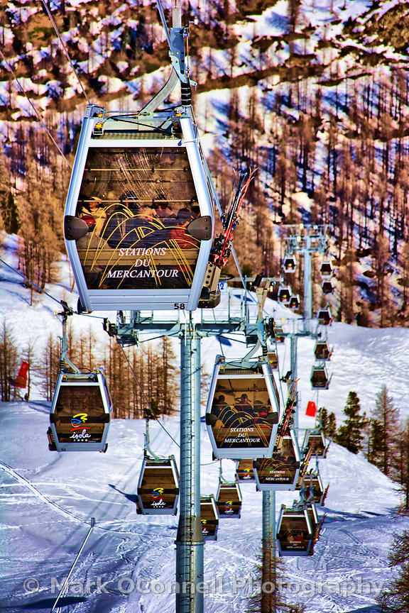 Isola chair lift French Alps