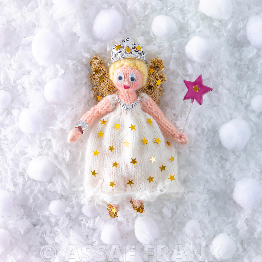 Knitted Christmas fairy