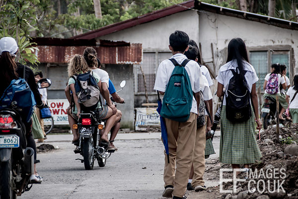 Philippine Street At The End Of The School Day