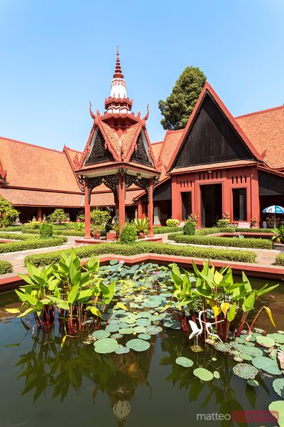 Courtyard of National museum of Cambodia, Phnom Penh