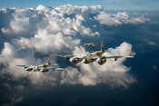 RAF Mosquitos above clouds