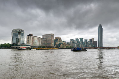 Thames riverboat Redoubt, rainy day