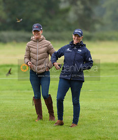 Lauren Hough and Zara Phillips, Land Rover Burghley Horse Trials 2017