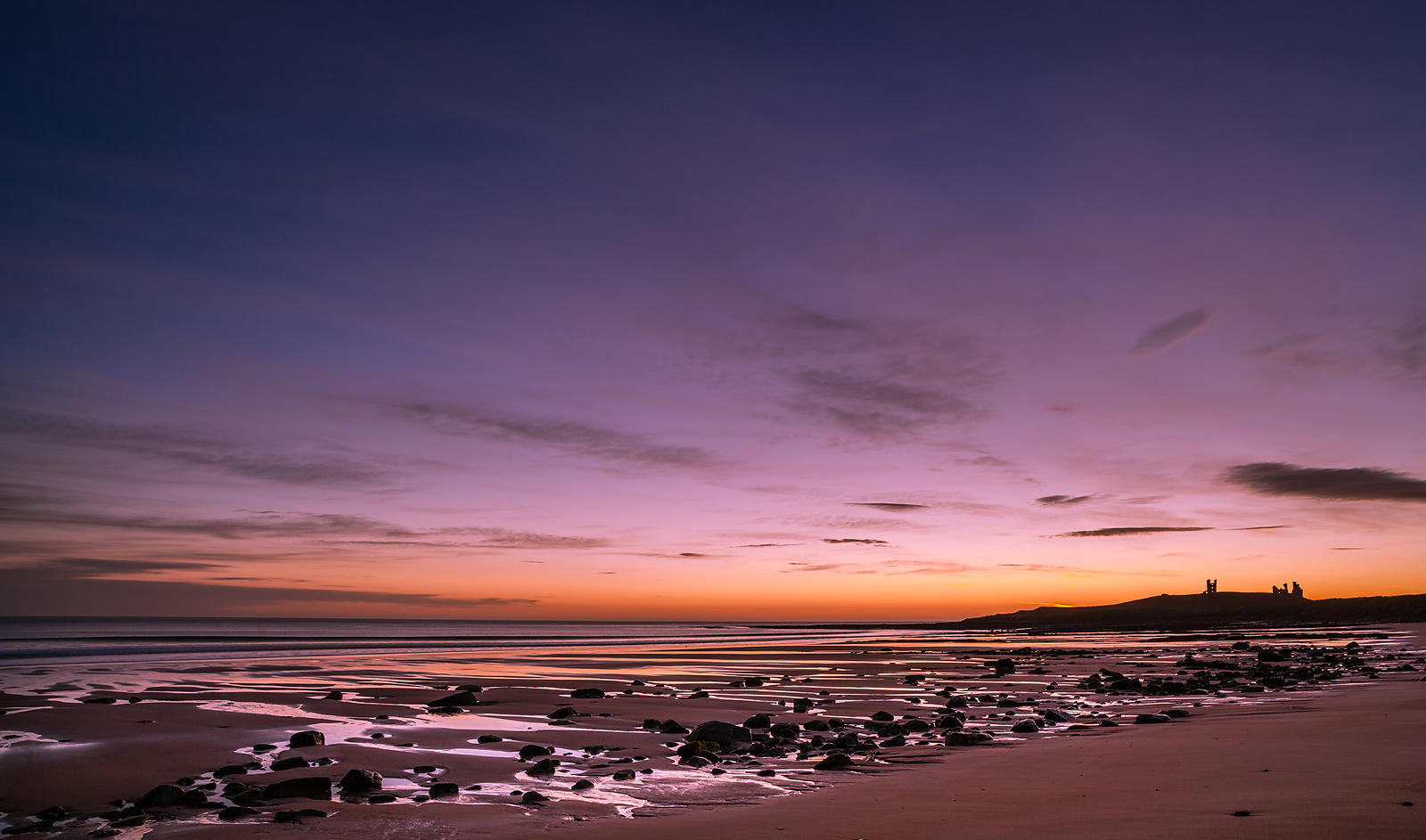 Pre-dawn rocks at Dunstanburgh