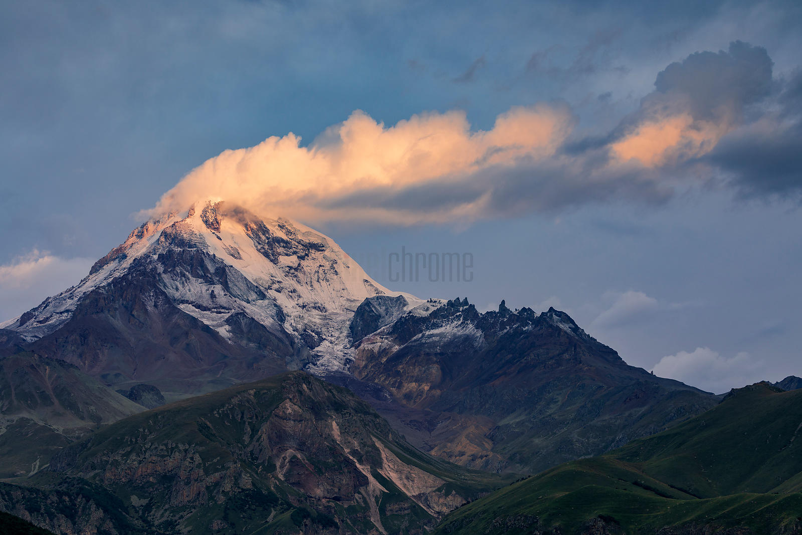 Kazbegi Mountain at Sunrise