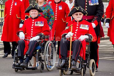 Chelsea Pensioners Marching in the Veteran's Parade