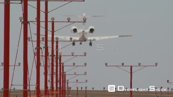Airplane Landing at LAX Los Angeles California