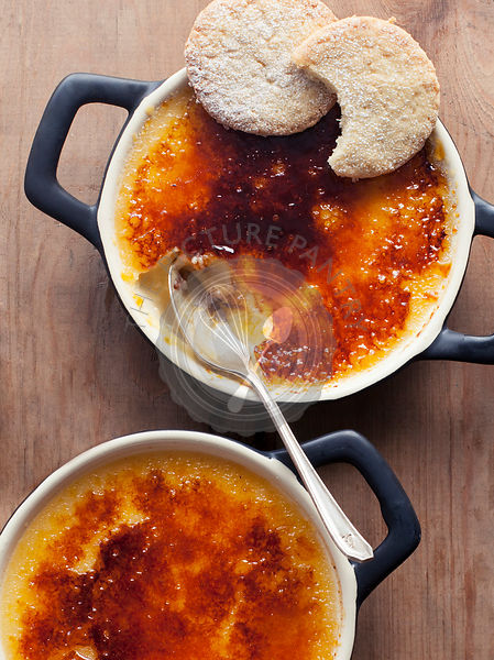 Passionfruit Creme Brulee with Coconut Shortbread