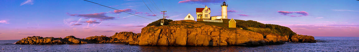 Nubble Lighthouse at Sunset, New England