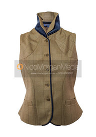 Stock image - Equestrian tweed waistcoat on white background