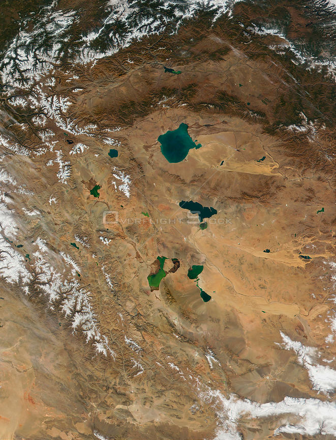 EARTH Mongolia -- 15 Oct 2001 -- The western region of Mongolia, with its several salt lakes, can be seen in this true-color ...