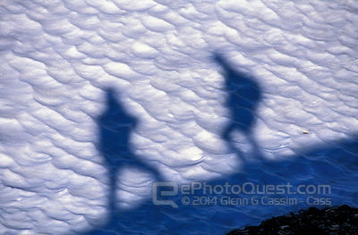 Shadows of Hikers