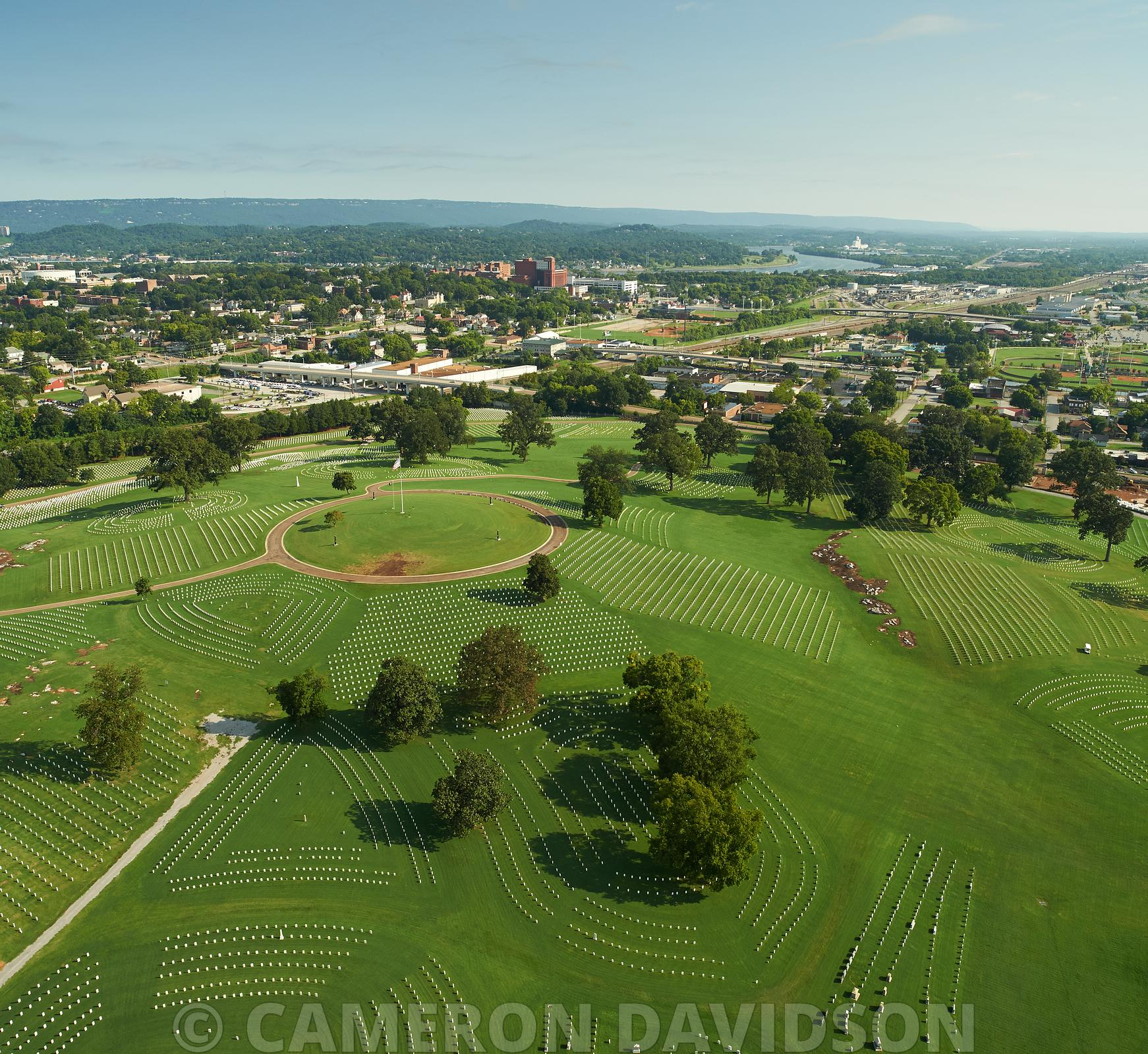 Aerial, National Cemetery, Chattanooga, Tennessee