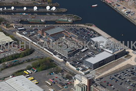 Manchester high level view of Granda ITV Studios Coronation Street Trafford Park Manchester