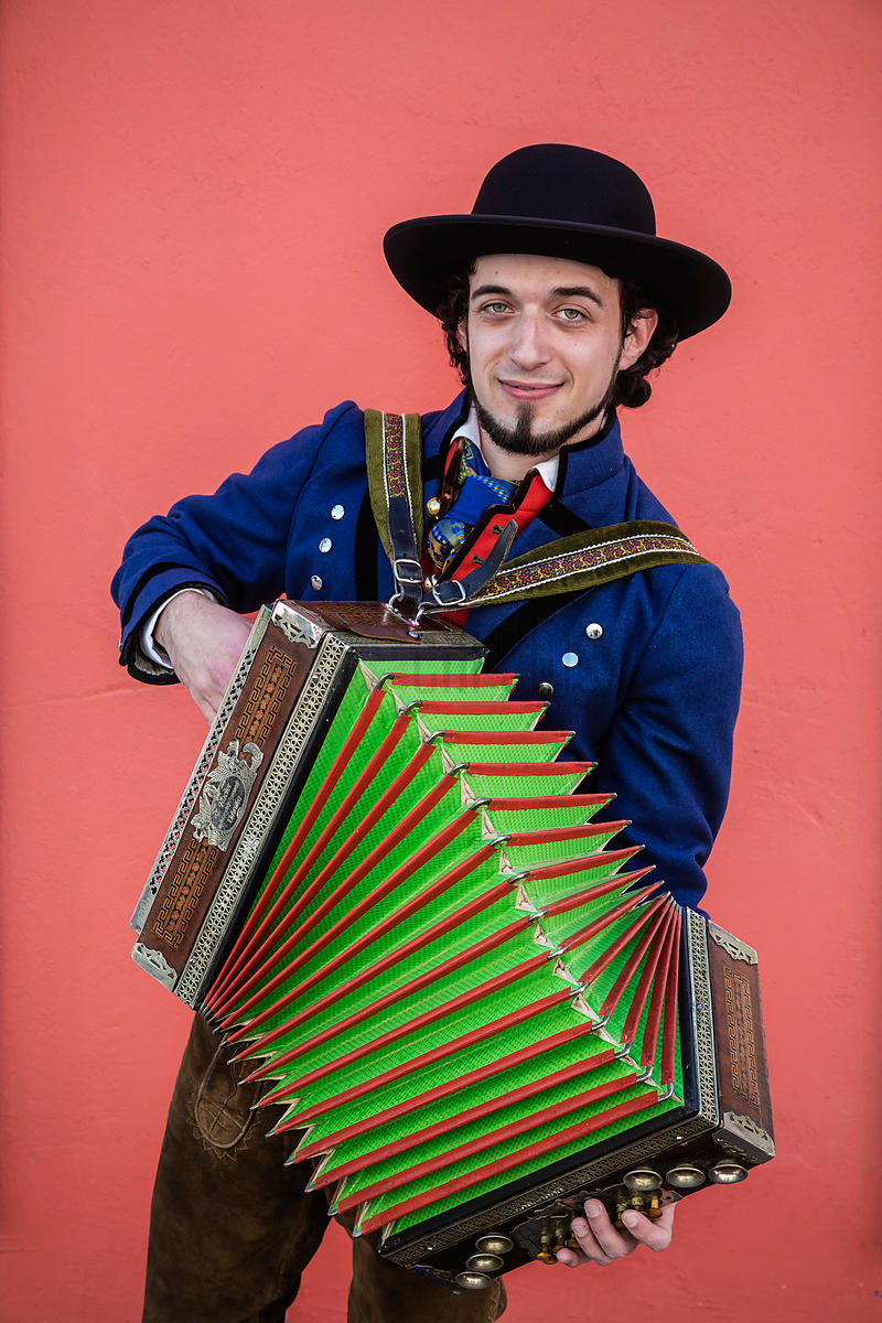 Traditional Slovenian Folk Dancer