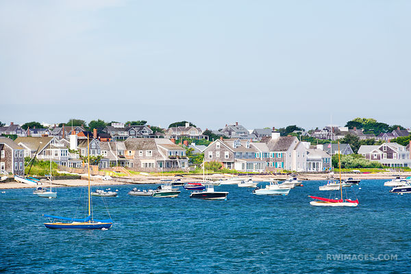 NANTUCKET ISLAND SAILBOATS COLOR
