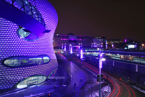 The Selfridges building at the Bullring Shopping Centre at Christmas, Birmingham, West Midlands, England, UK