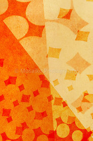 geometric shapes on orange textured background
