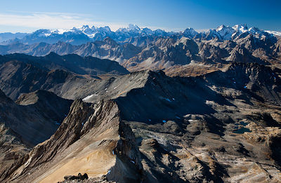 French-Italian Alps from Mont Thabor