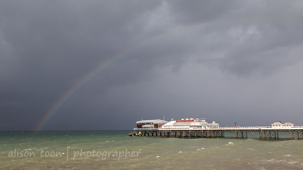 Rainbow over the North Sea and Cromer Pier