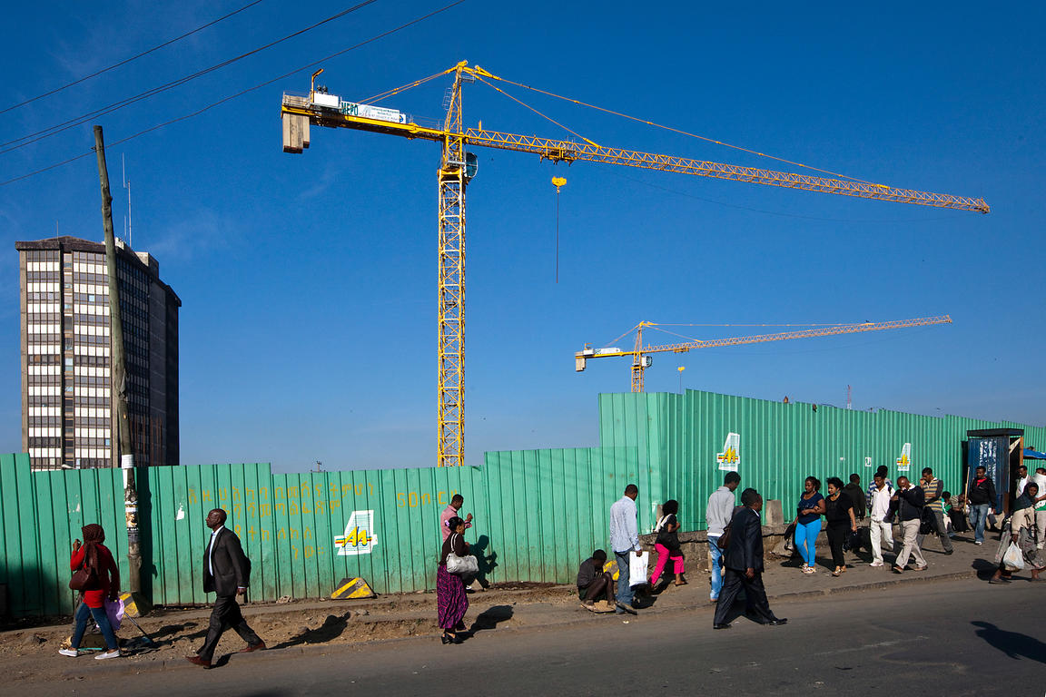 Stuart Freedman | Ethiopia - Addis Ababa - People walking