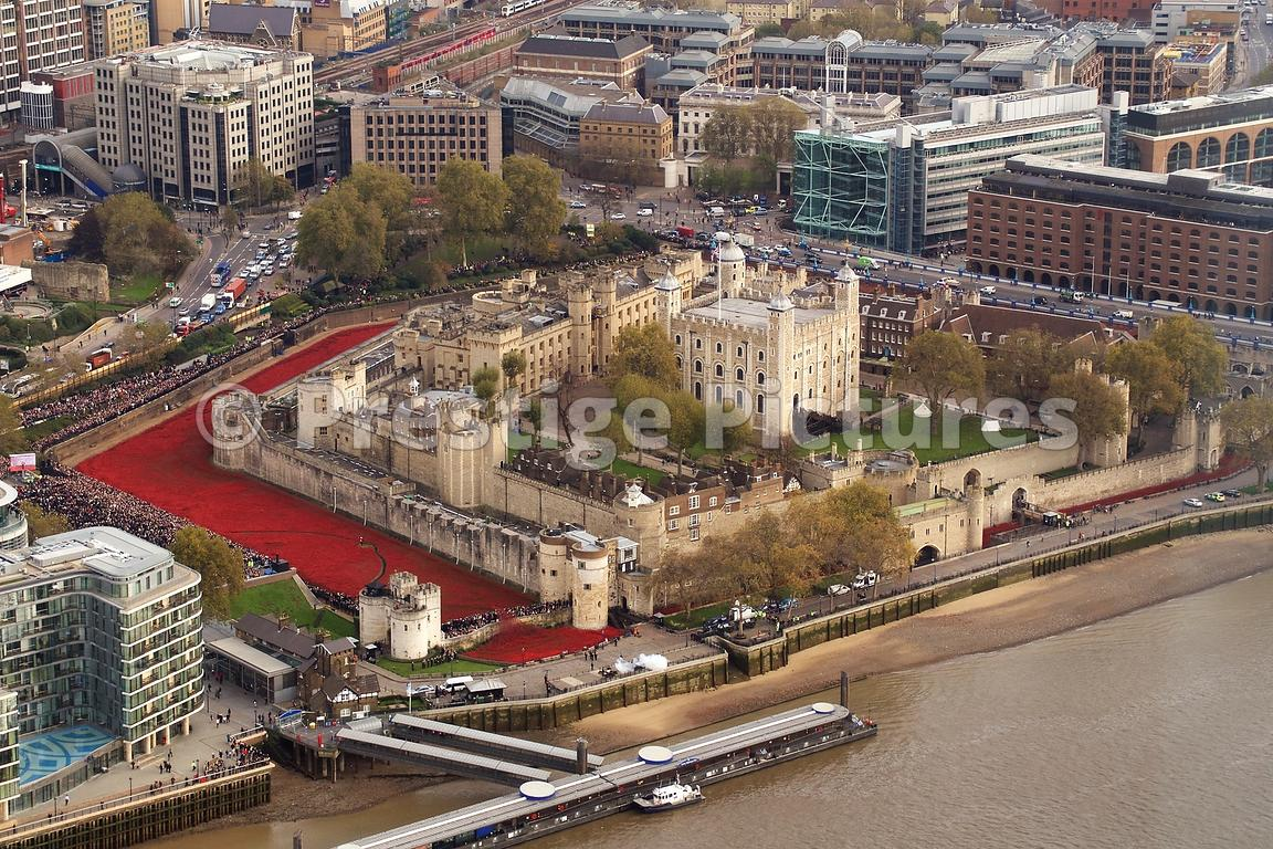 High Shot over The Blood Swept Lands and Seas of Red at The Tower of London