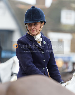 Jo Rutter At the meet. The Cottesmore Hunt Boxing Day Meet in Oakham 26/12