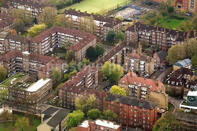 High Angle View of Residential Apartment Buildings in London