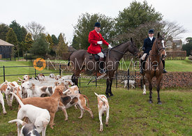 Andrew and Sophie Osborne - The Cottesmore Hunt at Burrough House 18/12