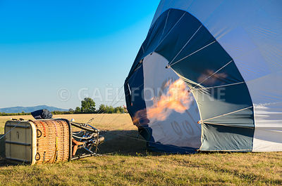 Balloon pumping before take off