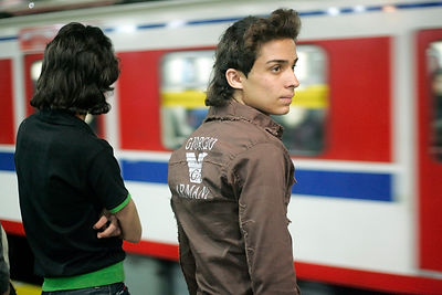 Young Iranian man in Armani clothes, April 5, 2007