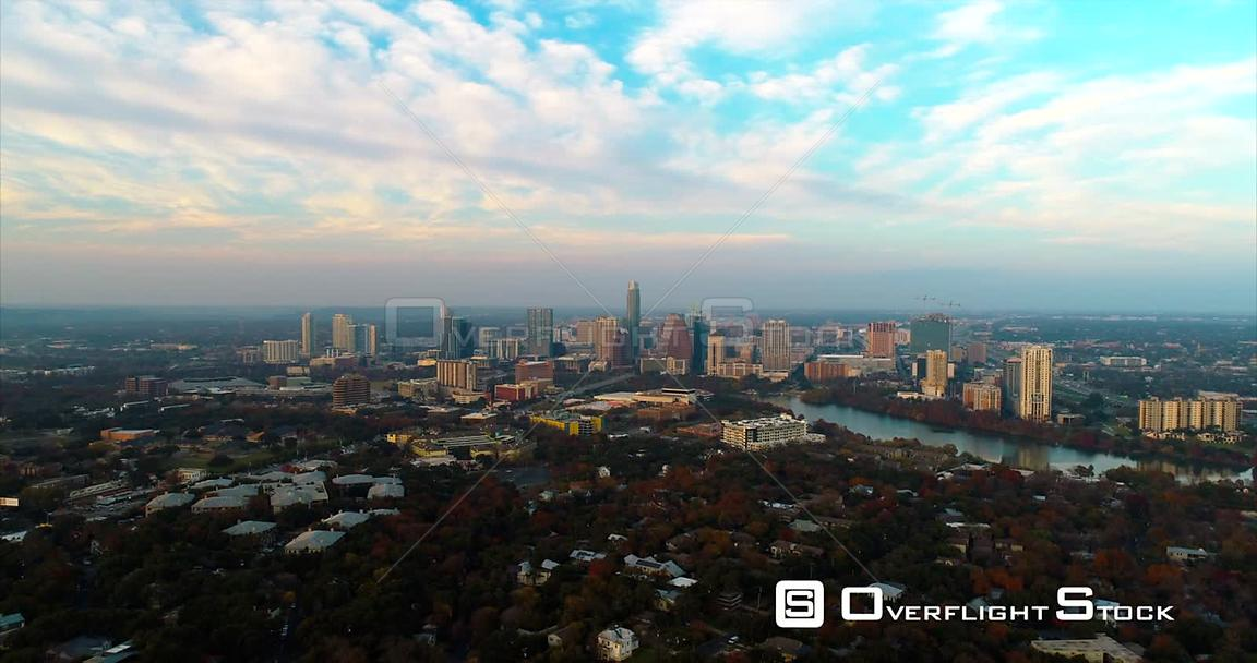 Timelapse Drone Video Austin Texas USA