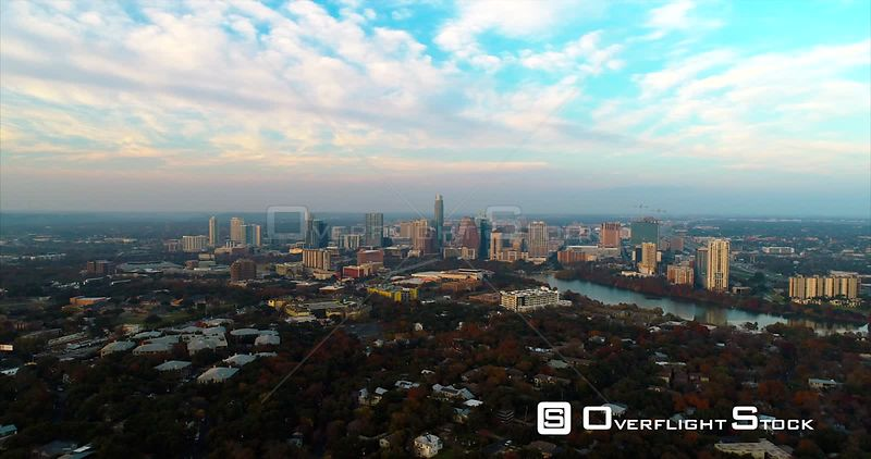 Time-lapse Drone Video Austin Texas USA