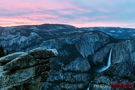 Sunset at Glacier point,  Yosemite, California, USA
