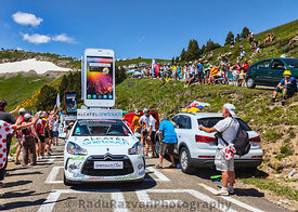 Alcatel One Touch Car in Pyrenees Mountains