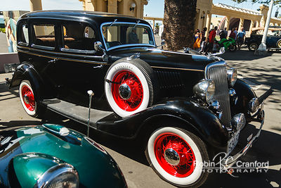 "Art Deco Sunday 2014.  1934 Ford ""40"" V/8 Deluxe. License Plate 1934FD"