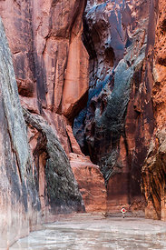 Entrance into Buckskin Gulch from Paria Canyon, Utah.