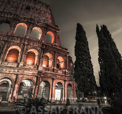 Famous Colosseum in Rome, Italy