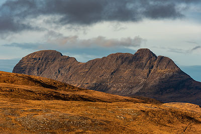 Suilven in winter afternoon light