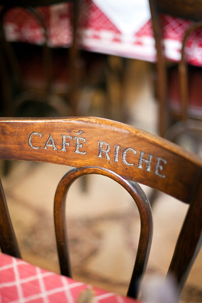Egypt - Cairo - The back of a chair in Cafe Riche