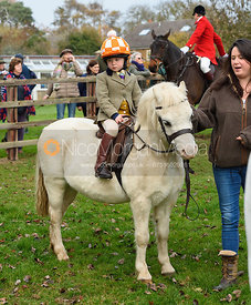 Etta Watson, Danielle Watson at the meet. The Cottesmore Hunt at Braunston