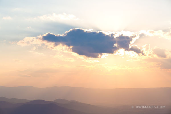 SHENANDOAH VALLEY SUNSET CLOUD SHENANDOAH NATIONAL PARK VIRGINIA COLOR