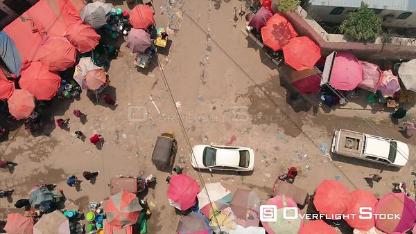 Top Down of a Market Mogadishu Somalia Africa