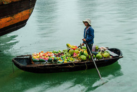 Floating Market Fruit Selling Boat