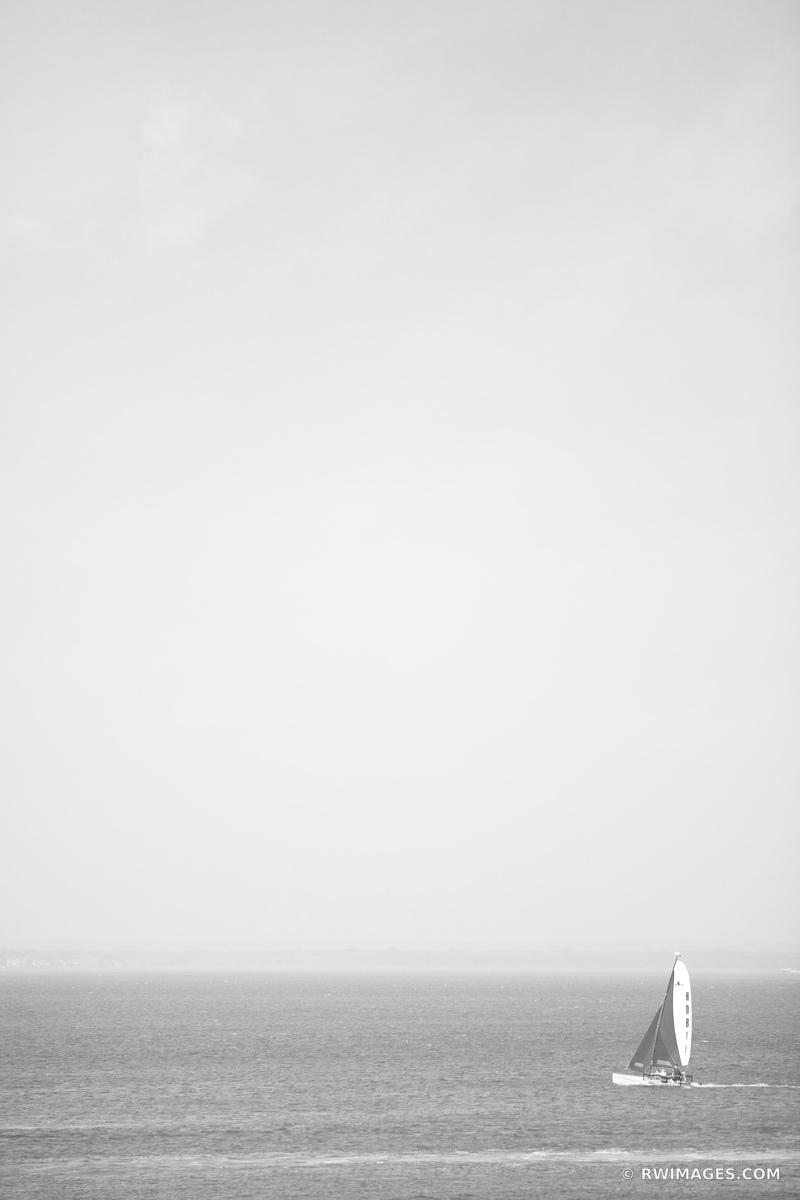 SAILBOAT LONG ISLAND NEW YORK BLACK AND WHITE VERTICAL