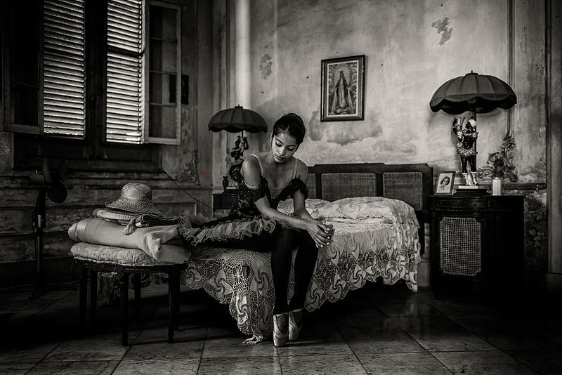 Portrait of a Ballerina in a Colonial Home