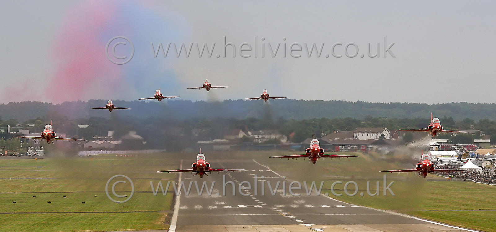Red Arrows Taking Off